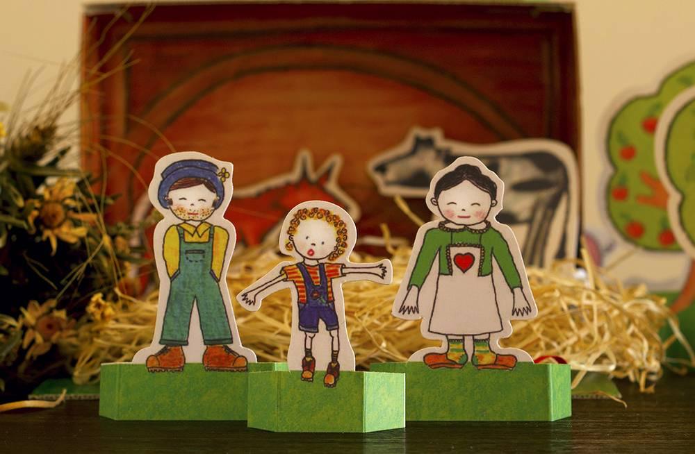 A Quinta da avó Quitéria   Bonecos de cartão